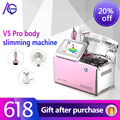 V5 pro 3 in 1 40k cavitation RF handle Vacuum suction weight loss shaping instrument Free shipping for home and salon