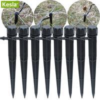KESLA Drippers Micro Flow Drip für 4mm/7mm Schläuche Schlauch 360 Grad 8 Löcher Einstellbare Bewässerung system Kit Gewächshäuser-in Bewässerungs-Kits aus Heim und Garten bei