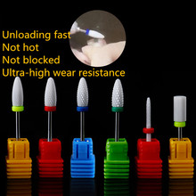 6 Type Ceramic Corn Cylind Nail Drill Bits Manicure Art Tools  Electric Manicure Drill Accessories Nail Files Removel Dead Skin