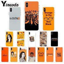 Yinuoda naranja es la nueva funda suave de TPU negra para iPhone 8, 7, 6, 6S y 5 5S SE XR X XS X MAX Coque Shell