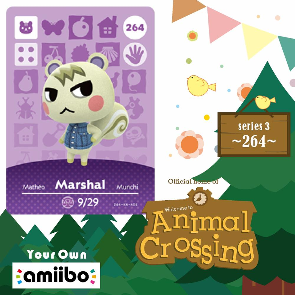Animal Crossing New Horizons Card Amiibo Card Work for NS Switch Game #264 Marshal Cards Drop Shipping image