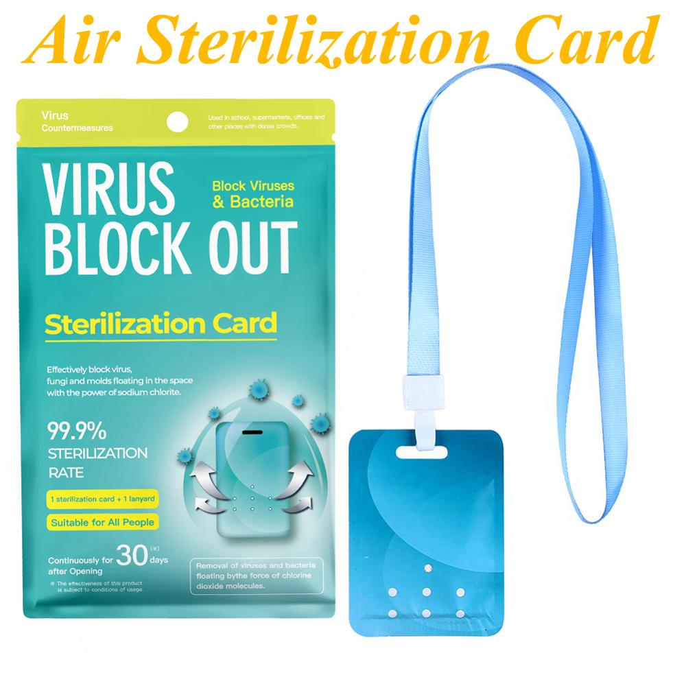 Air Sterilization Card Space Disinfection Protection Card Air Purifier With Lanyard For Kids Adults