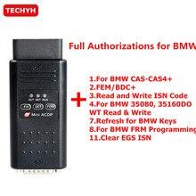 Yanhua мини ACDP программирования мастер уплотнительное кольцо для BMW полный посылка модуль 1/2/3/4/7/8/11 всего 7 разрешения