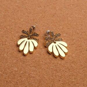 Image 5 - Amorita boutique Leaf designs stylish metal drop earrings