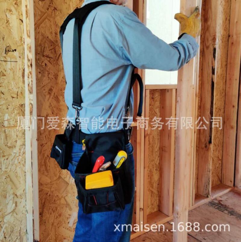 Men Work Tooling Strap Suspender Belt Suspenders Heavy Duty H Type Tool Bag Braces Black Adjustable Suspensorio Working Straps