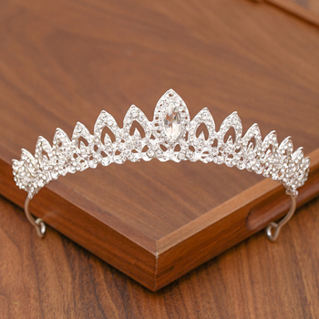 Bridal Tiara Hair Crown Wedding Hair Accessories For Women Silver Color Crown For Bridal Crowns And Tiara Women Accessories Gift 2