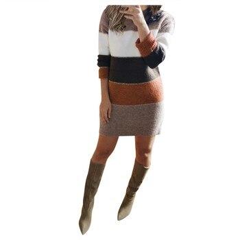 Striped Sweater Day Dress 1