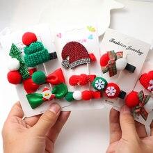 Новые рождественские заколки для волос набор Рождественская