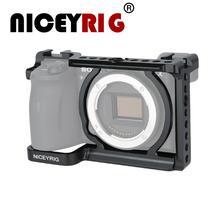 Niceyrig قفص كاميرا مخصص ، A6600 ، مع حذاء بارد ، 1/4 بوصة ، ثقوب لولبية ، مثبت متعدد الوظائف لسوني A6600