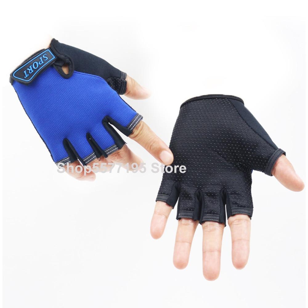 Sport Gloves For Kids Semi-finger Children Mittens Boys Girls Fingerless Cartoon Gloves For 5-13 Years Kid 2020 New