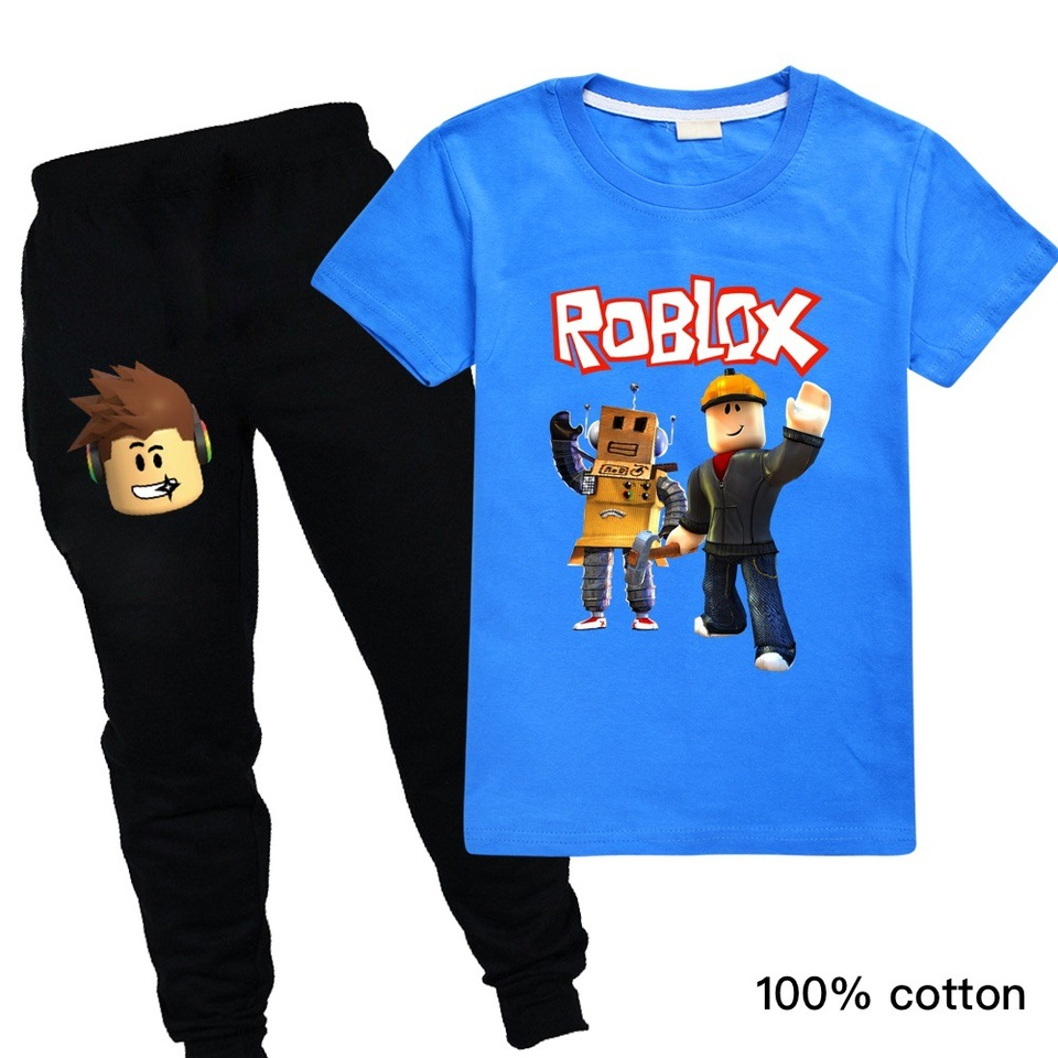 boy outfit roblox Casual Toddler Outfits Baby Girl Summer Clothes Newborn Boy Clothing Set Sports T Shirt Trousers Suits Roblox Print Clothes Game Costumes Aliexpress