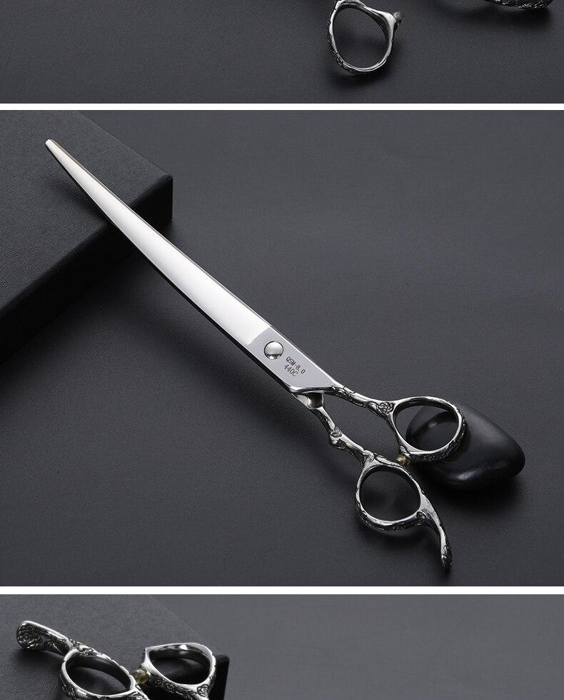 Fenice 8.0 polegada pet grooming tesoura rosa