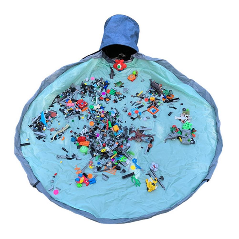 Jogar esteira e saco de armazenamento de brinquedo barris para crianças grande brinquedo cordão armazenamento organizador cestas brinquedos recipiente de armazenamento organizesbags