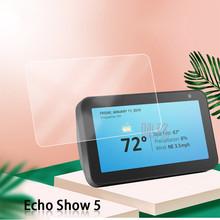 Odporność na zarysowania ochraniacz ekranu dla Amazon Echo Show 5 szkło hartowane dla Amazon Echo Show 5 8 0 #8222 HD szkło hartowane tanie tanio For Amazon Echo Show 5