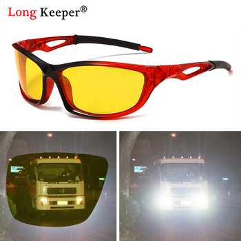 Night Vision Driver Goggles Sun Glasses Men Car Driving Glasses UV Protection Polarized Sunglasses Eyewear Anti-Glare Yellow Len classic vintage photochromic sunglasses men polarized sun glasses driving eyewear male night vision change color lens anti glare