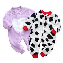 Вязаная Детская одежда с длинным рукавом комбинезон для новорожденных