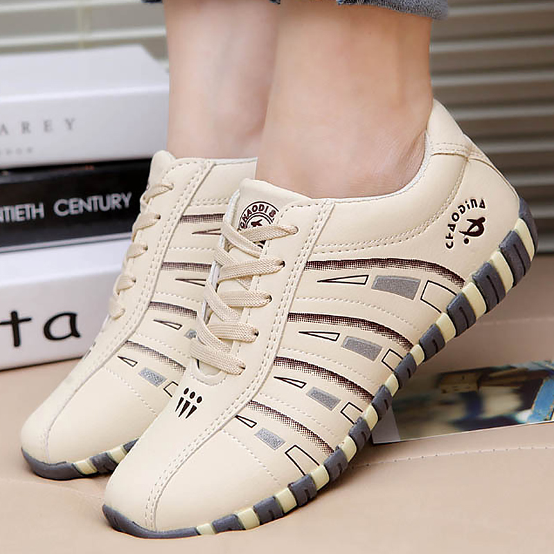Women's Sneakers Sports Shoes Woman Fashion Striped Lace Up Running Casual Shoes Women Trainers Comfortable Size 41 Sturdy Sole