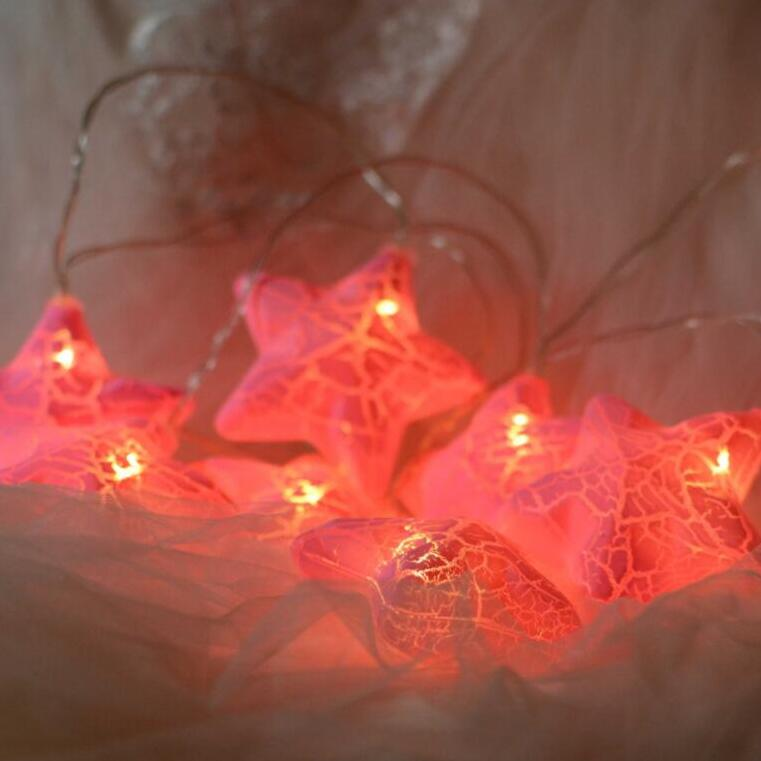 2m 10Led Led New Star Lights String Ball Battery Box String Lights Christmas Decoration Lights