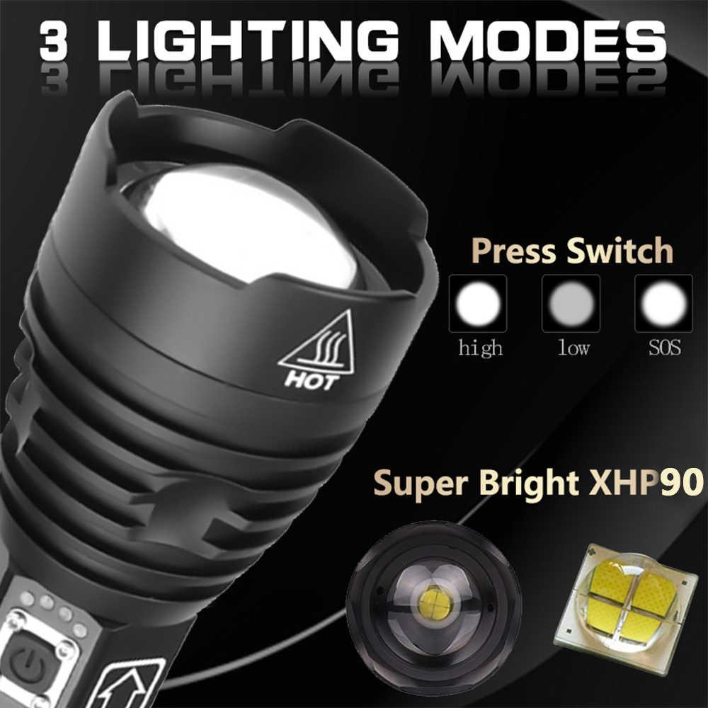120000 люмен лампа xhp90 самый мощный фонарик usb светодиодный фонарь с зумом xhp70 xhp50 18650 батарея лучший кемпинг, открытый