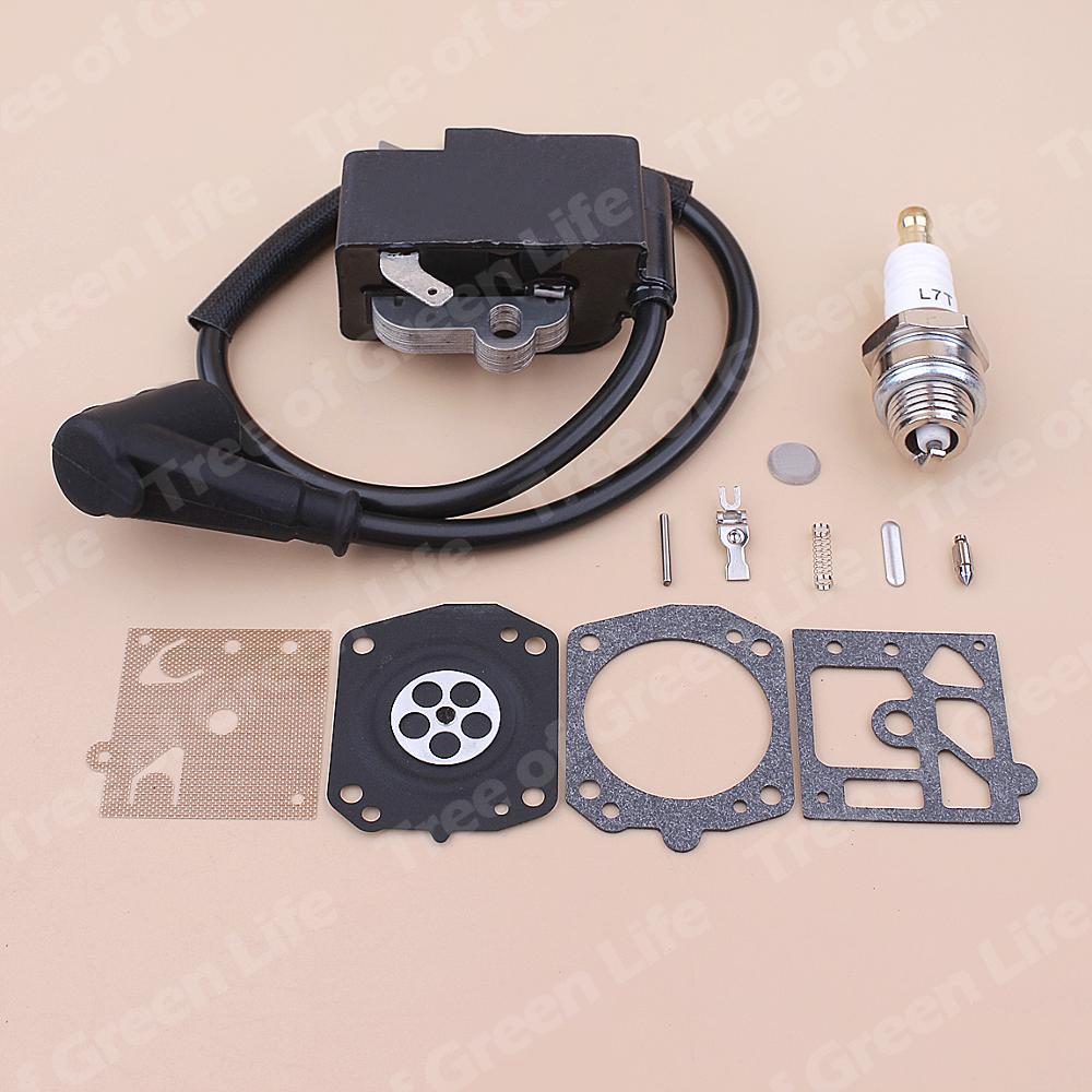 Tools : Ignition Coil Spark Plug For Stihl MS441 MS 441 Carburetor Repair Diaphragm Kit Chainsaw 1138 400 1300
