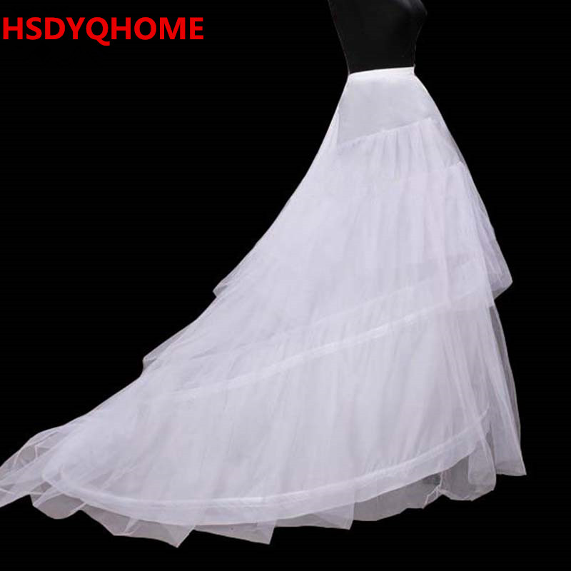 In Stock Free Shipping White 3 Hoop Petticoats Under Skirt Bridal Wedding Dres Wedding Accessories Slip Bridal Petticoats