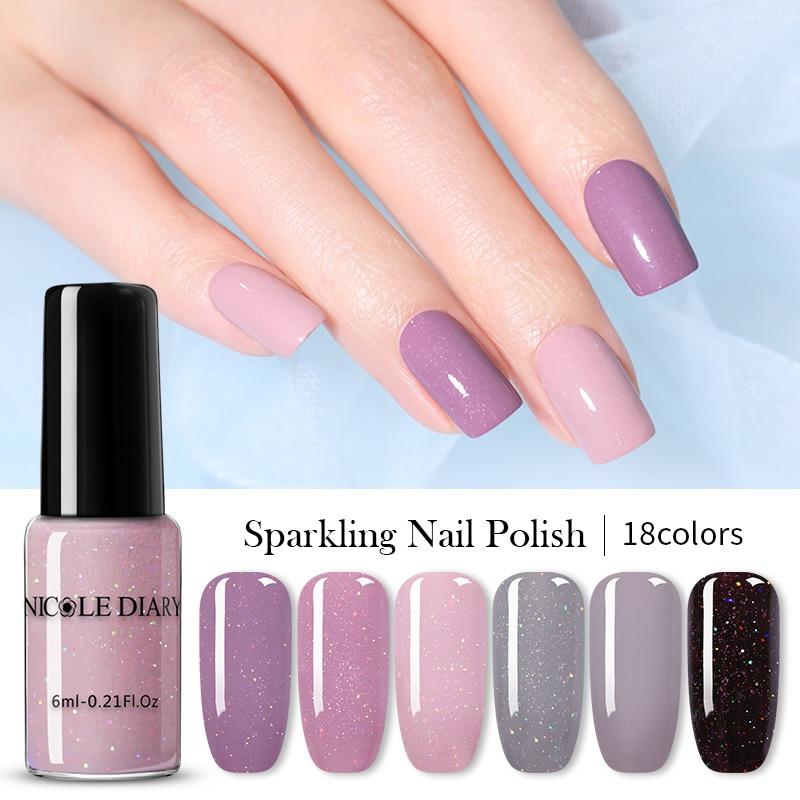 NICOLE DIARY  Series Nail Polish 6ml Peel Off Nail Art Varnish  Nail Color Pink  DIY Design Varnish Water-Based