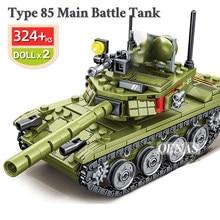 SEMBO Military WW2 Army Action Figures VT4 T34 Z9 Main Battle Tank Vehicle Model Building Blocks Kits Kids Educational Toys Gift