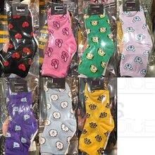 Nueva Kpop Bangtan chico grupos largo corto calcetines de Color caramelo de algodón de Corea encantadora la impresión de dibujos animados Invisible Sockscks de calidad superior