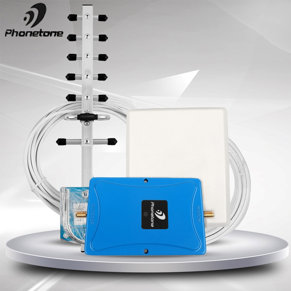 3G 4G LTE 1900MHz Band 2 Mobile Phone Signal Booster 3G 1900 MHz Cell Phone Signal Repeater 70dB LTE Amplifier &ALC/AGC For Home