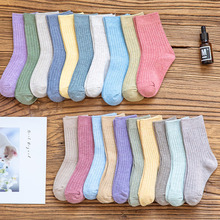 5 Pairs/Lot Infant Baby Socks Non-slip Socks Newborn Infant Baby Girls Boys Toddlers Bebe Child Cotton Solid Cute Floor Socks 5 pairs lot infant baby socks summer non slip socks newborn baby girls boys toddlers cotton bebe cartoon fashion cute floor sock