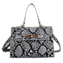 Elegant Animal Snake Print Handbag Women Shoulder Messenger Flap Leather Bags Designer Crossbody Bags Fashion Clutch Bag pinapple print flap crossbody bag