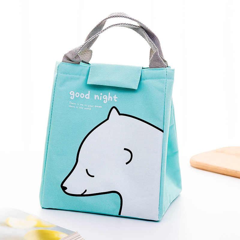 Saco de almoço portátil para crianças crianças saco de lona isolado saco de comida térmica refrigerador