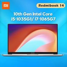 Original Xiaomi Laptop RedmiBook 14 II Notebook Intel Core i5-1035G1/ i7-1065G7 14 Inch Screen MX350 8/16 GB DDR4 512GB Computer