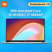 Oryginalny Laptop Xiaomi RedmiBook 14 II Notebook Intel Core i5-1035G1/ i7-1065G7 14 Cal ekran MX350 8/16 GB DDR4 512GB komputer