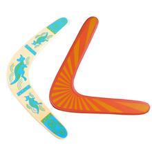 Бумеранг с v-образными полосками на возврат игрушечная Летающая деревянный диск Забавный интерактивный Семья пледы поймать на открытом воз...