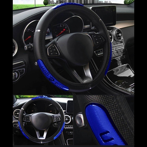 1PC PU Leather Steering Wheel Cover Soft Universal Anti-Slip Waterproof Auto Interior Decoration Auto Product Car Accessories