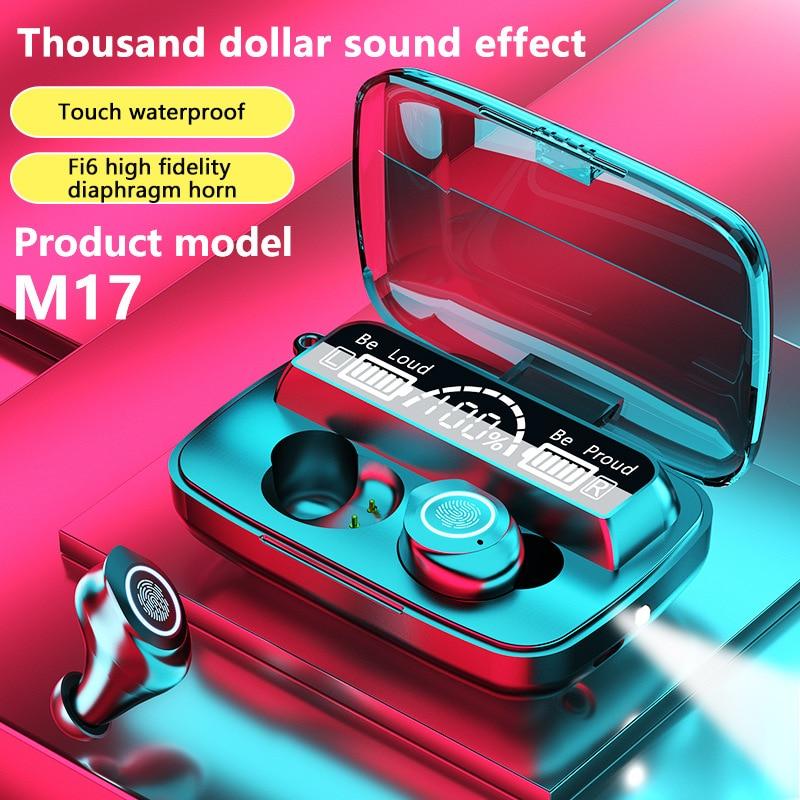 Беспроводная Bluetooth-гарнитура TWS с сенсорным управлением, спортивная водонепроницаемая hi-fi стерео гарнитура с шумоподавлением, затычки для у...