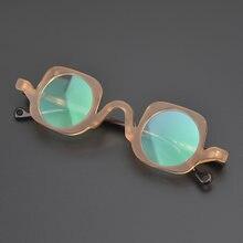 Винтажные ацетатные очки оправа круглые для мужчин женщин люксовый