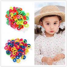 100pc/lot Girl Seamless Hair Rope Hair Band Girls Cute Elastic Ponytail Holder Rubber Band Hair Accessories Headwear 2019 New(China)