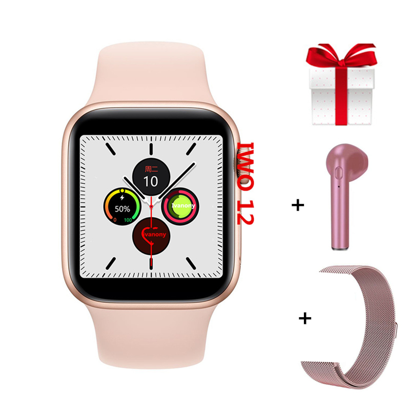 <font><b>Smart</b></font> <font><b>Watch</b></font> Women IWO12 Smartwatch <font><b>IWO</b></font> 12 pro Serie 5 <font><b>44mm</b></font> Waterproof IP68 Ladies <font><b>Smart</b></font> <font><b>Watches</b></font> 2019 for Iphone 6 7 <font><b>8</b></font> X Android image