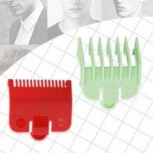 2 шт., профессиональная расческа для стрижки, парикмахерский инструмент, 1,5 мм, 3 мм, набор, цветной концевой гребень, набор для электрического триммера волос, бритва