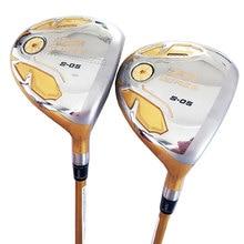 新ゴルフクラブ本間 S 05 4 スターゴルフフェアウェイウッドグラファイトシャフト r または s フレックスゴルフ木材をヘッドカバー cooyute 送料無料