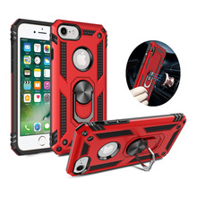 For iphone 6 6s Case iphone 7 case Car bracket iphone 8 Back Cover Case For iphone 6 6s plus phone case for iphone 7 8 plus cheap CHTS Fitted Case Geometric Sports Metallic Business Anti-knock Kickstand With Finger Ring Heavy Duty Protection Adsorption