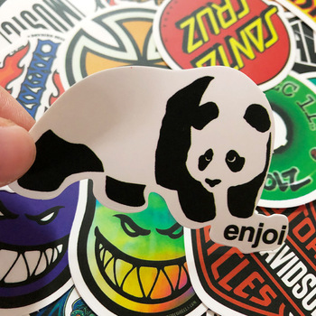 100pcs black and white random stickers graffiti funny sticker for laptop suitcase skateboard moto bicycle car kid s toy stickers 100pcs Random NO Repeat Classic Fashion Style Graffiti Stickers For Moto Car & Suitcase Cool Laptop Stickers Skateboard Sticker