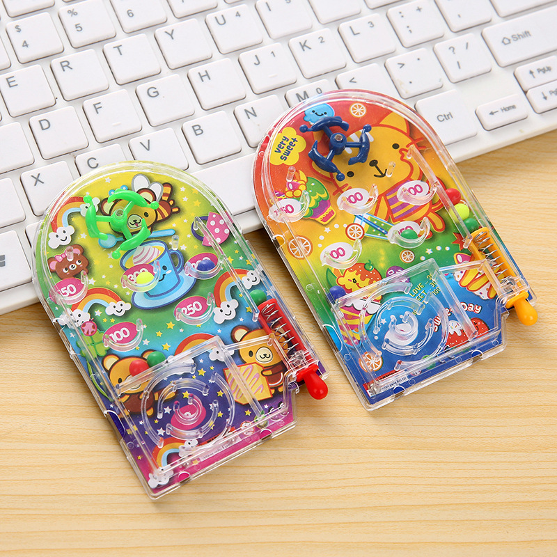Creative Children Marble Disc Marble Game Cartoon Handheld Game Console Toy Stall Supply of Goods Hot Selling Gift