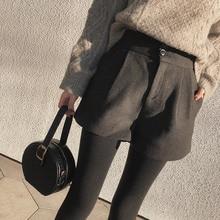 Mishow 2018 novo outono quente moda feminina shorts de cintura alta casual calças curtas largas perna mx18d2453