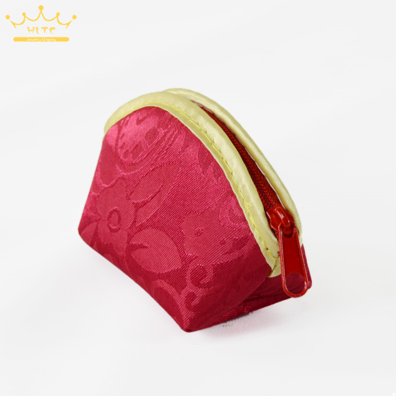 New China Red Velvet Cloth Bag Gift Jewelry Ring Bracelet Storage Bag Small Wallet