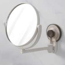 Bath Mirror Cosmetic 1X/3X Magnification Suction Cup Adjustable Makeup Double-Sided Bathroom