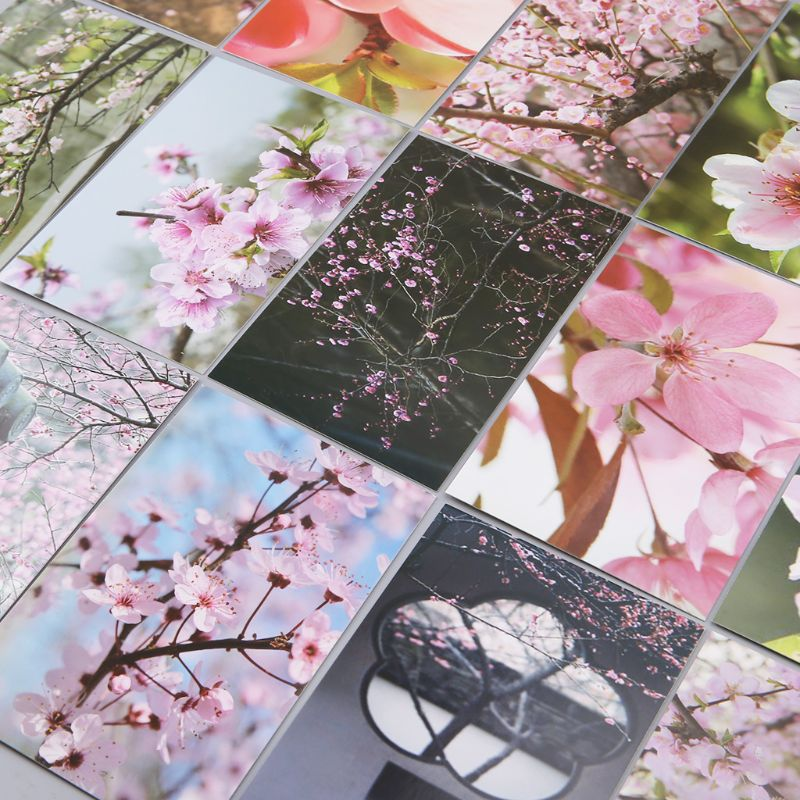 30 Sheets Peach Blossom Paintings Retro Vintage Postcard Christmas Gift Card Wish Poster Cards  2