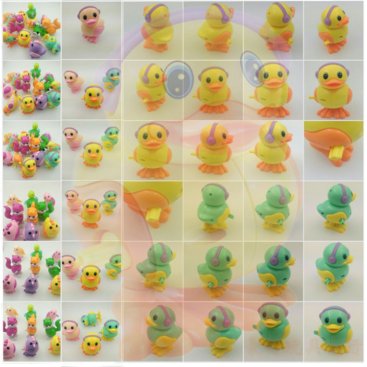 On Spring Winding Children Chain Jumping Duck Baby Toy Unisex Will Jump Will Go Ducks Chickens Turtle-Winding